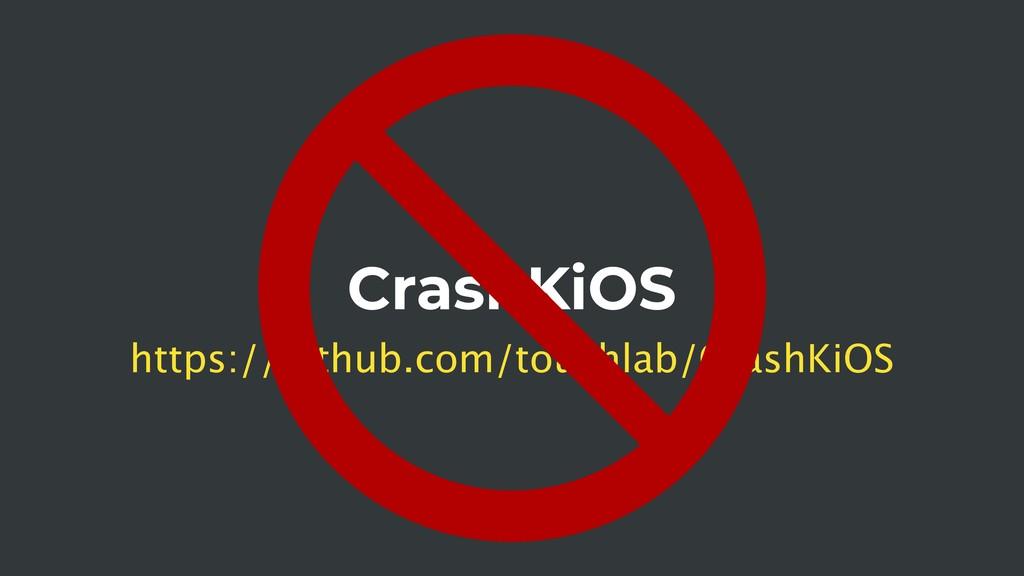 CrashKiOS https://github.com/touchlab/CrashKiOS