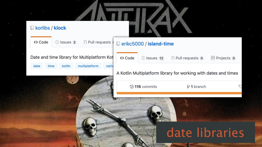 date libraries