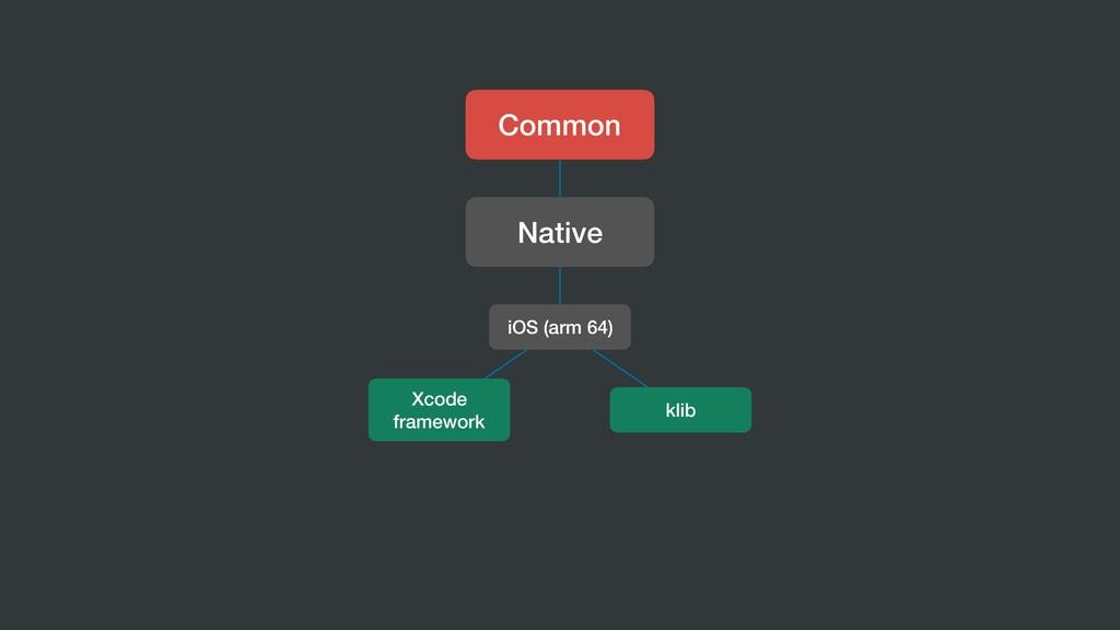 Common Native iOS (arm 64) klib Xcode framework