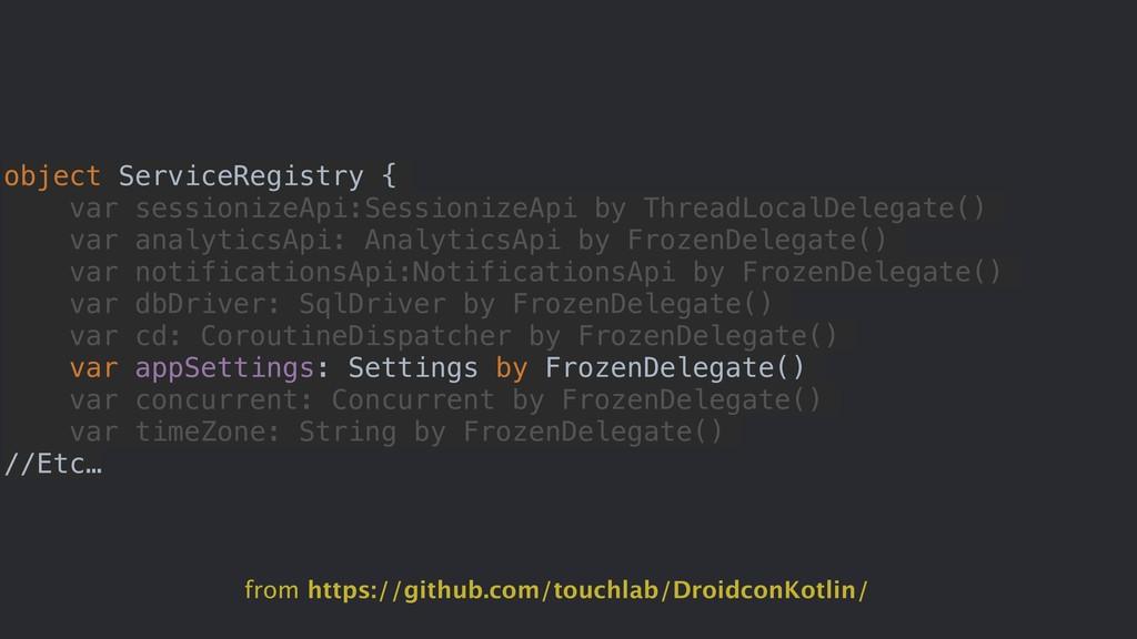 object ServiceRegistry { var sessionizeApi:Sess...