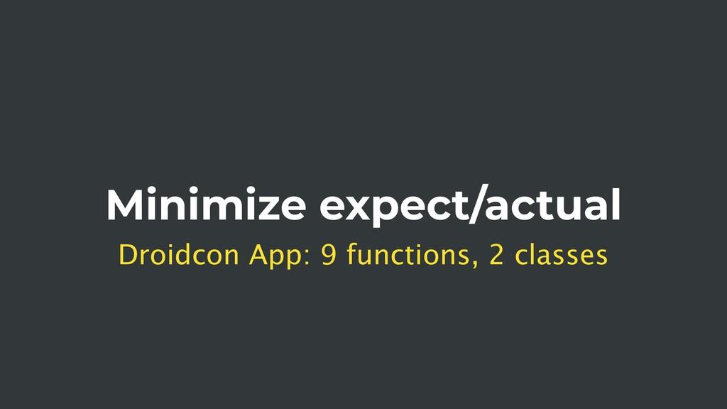Minimize expect/actual Droidcon App: 9 function...