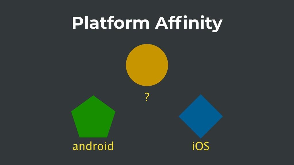 Platform Affinity android iOS ?