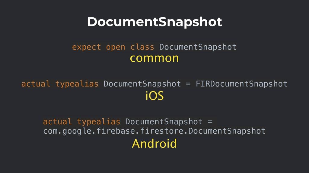 expect open class DocumentSnapshot DocumentSnap...