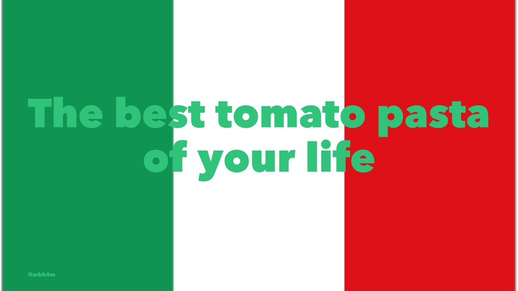 The best tomato pasta of your life @arkh4m
