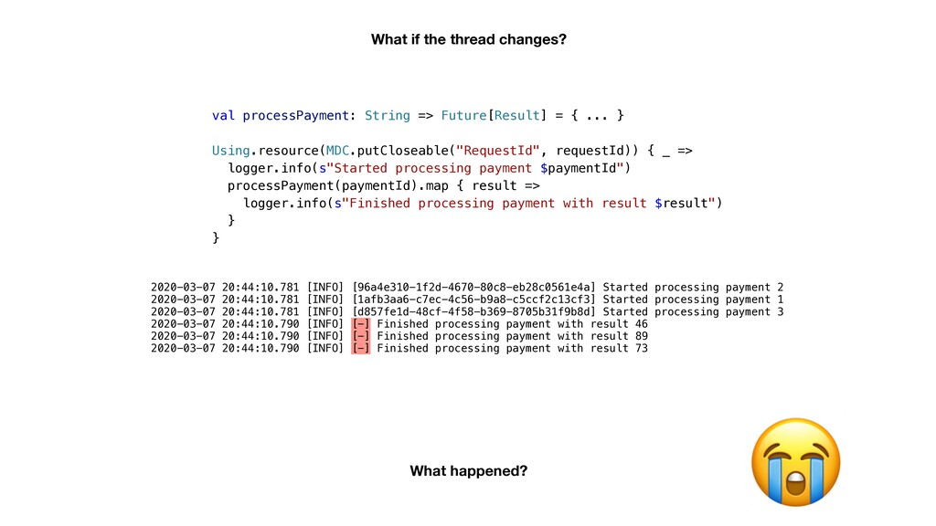val processPayment: String => Future[Result] = ...