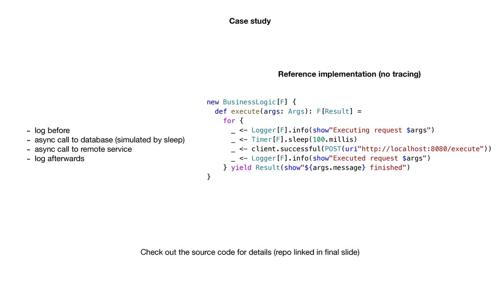 Case study - log before  - async call to databa...