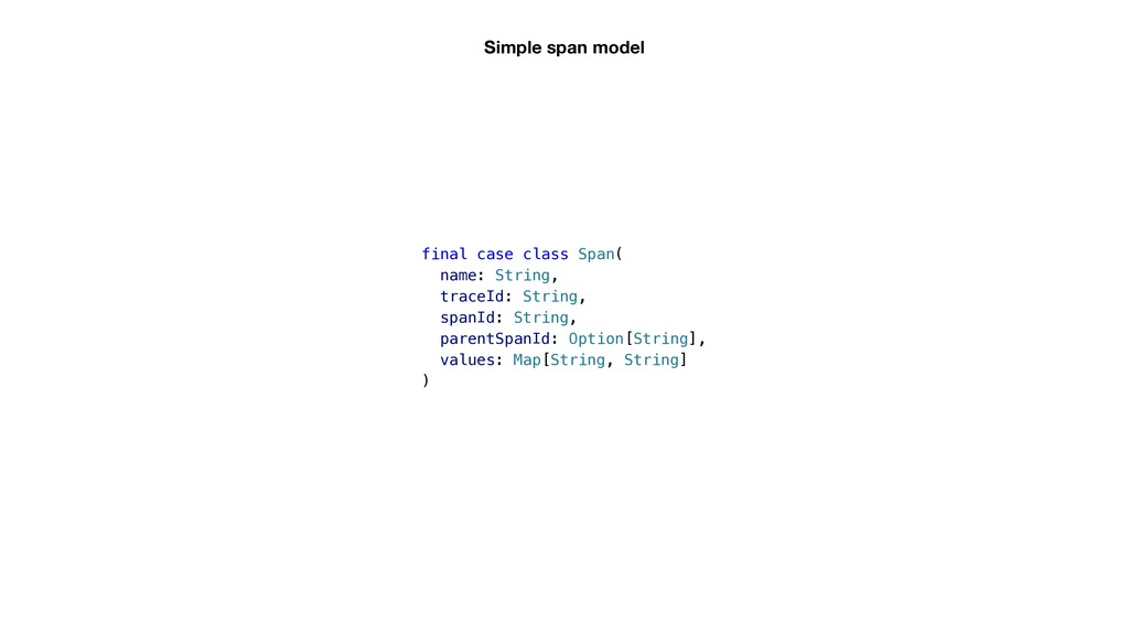 Simple span model final case class Span( name: ...