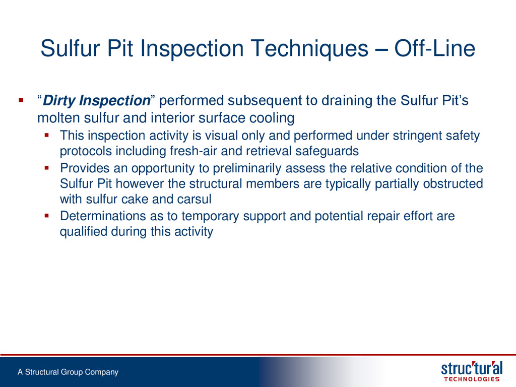 A Structural Group Company Sulfur Pit Inspectio...