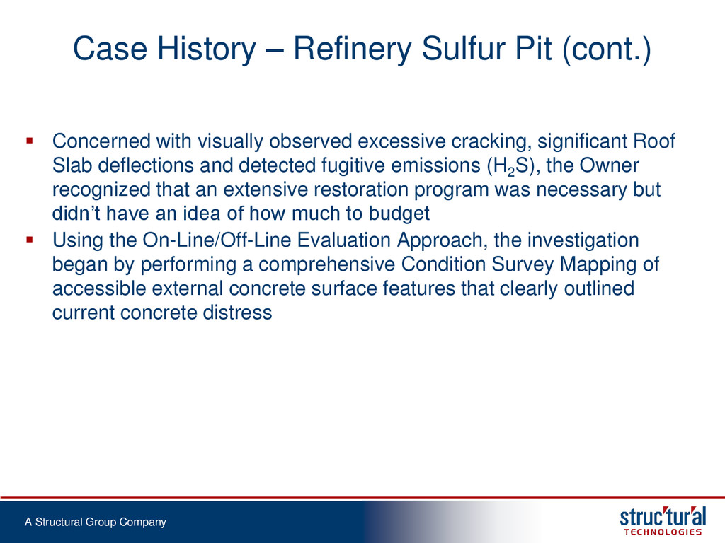 A Structural Group Company Case History – Refin...