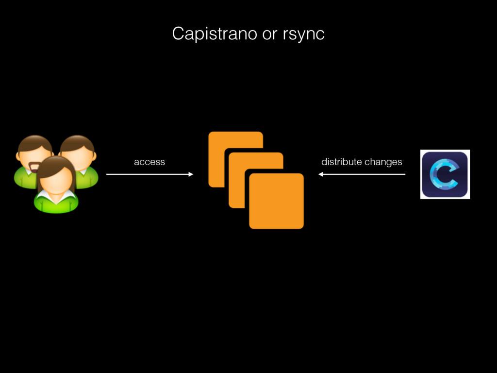 Capistrano or rsync access distribute changes
