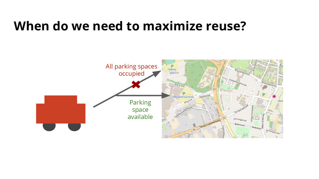 When do we need to maximize reuse? All parking ...