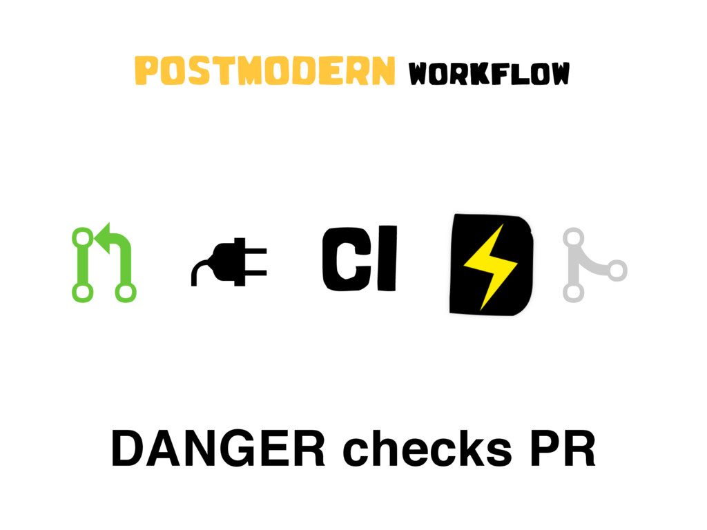 """ CI # DANGER checks PR POSTMODERN WORKFLOW !"