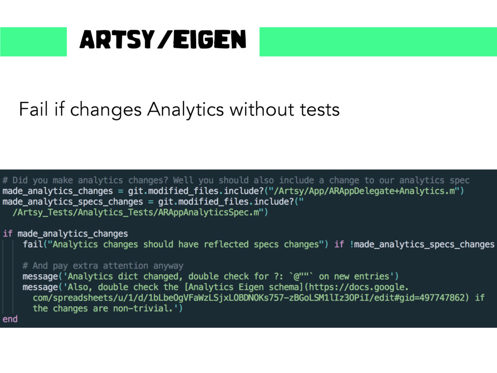 Fail if changes Analytics without tests Artsy/e...