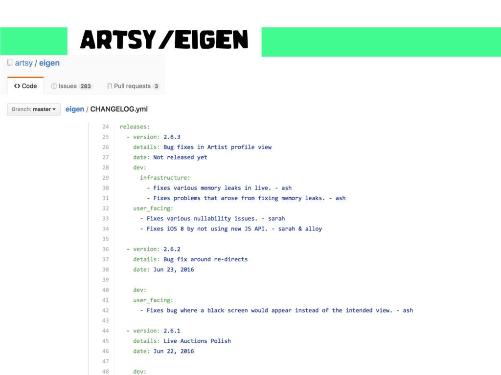 Artsy/eigen