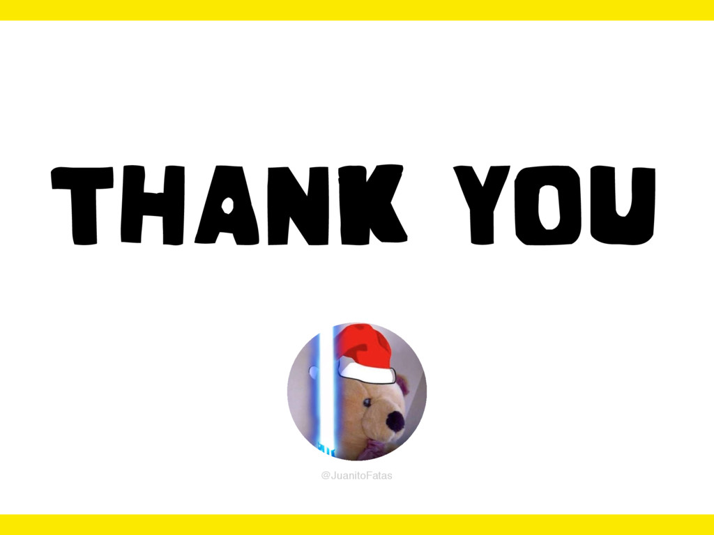 THANK YOU @JuanitoFatas