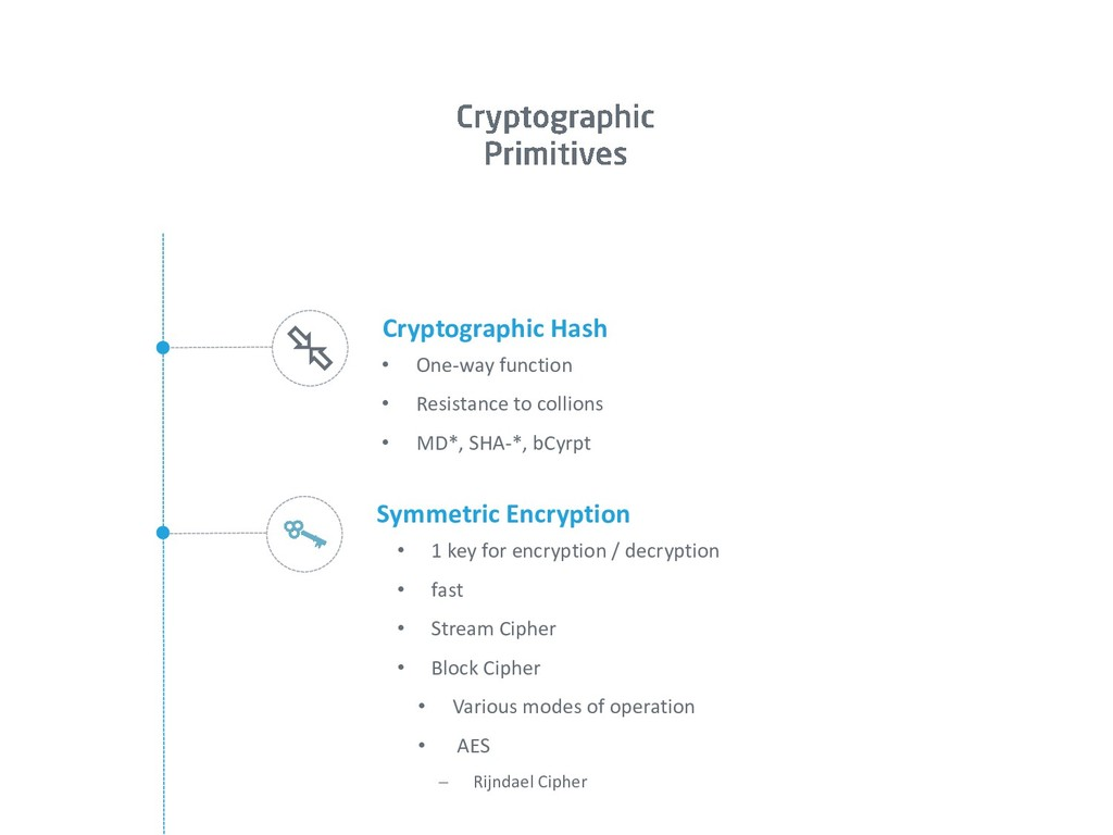 Symmetric Encryption • 1 key for encryption / d...