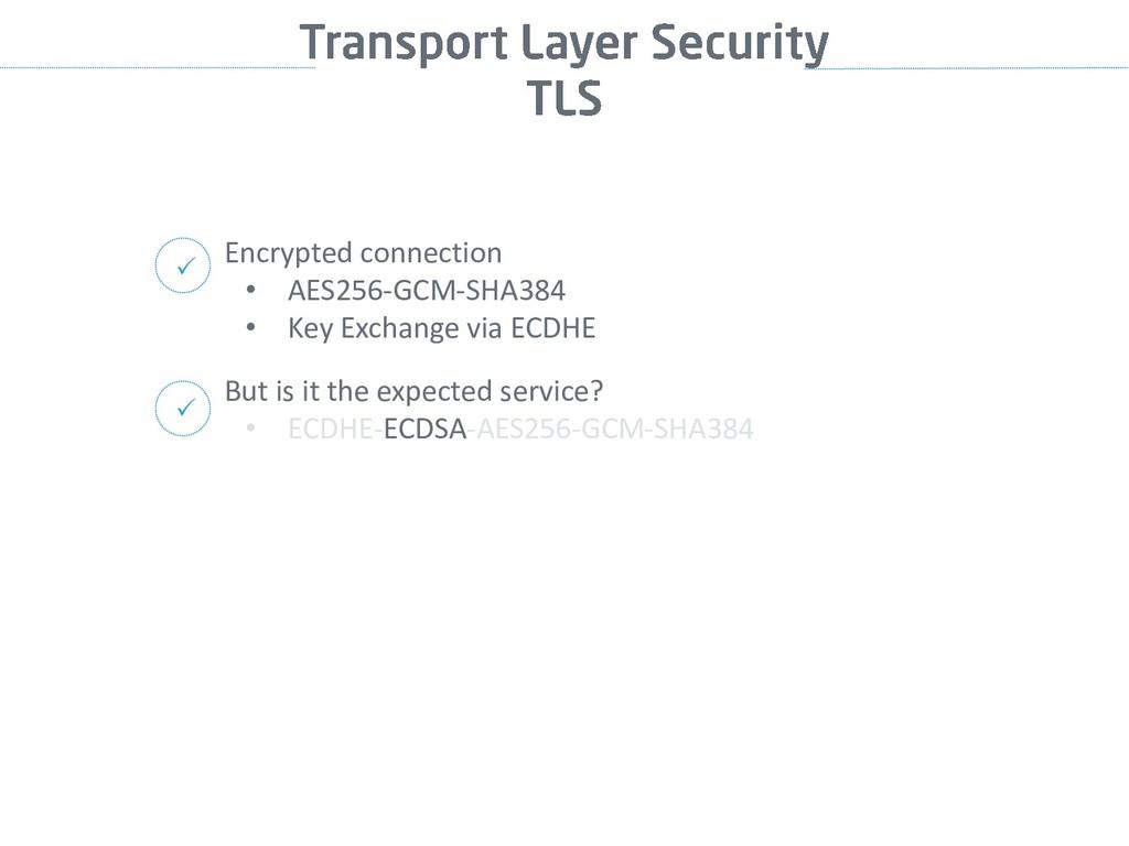 Encrypted connection • AES256-GCM-SHA384 • Key ...