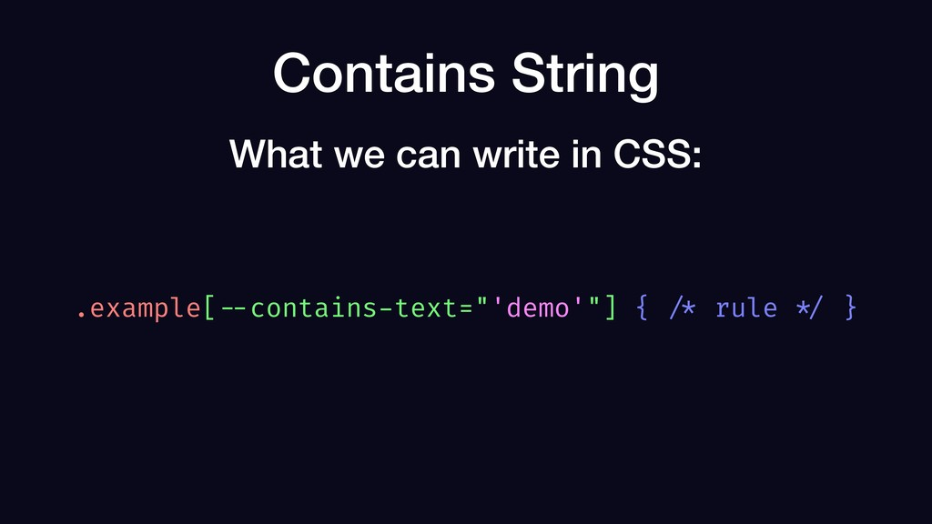 """Contains String .example[ --contains-text=""""'dem..."""