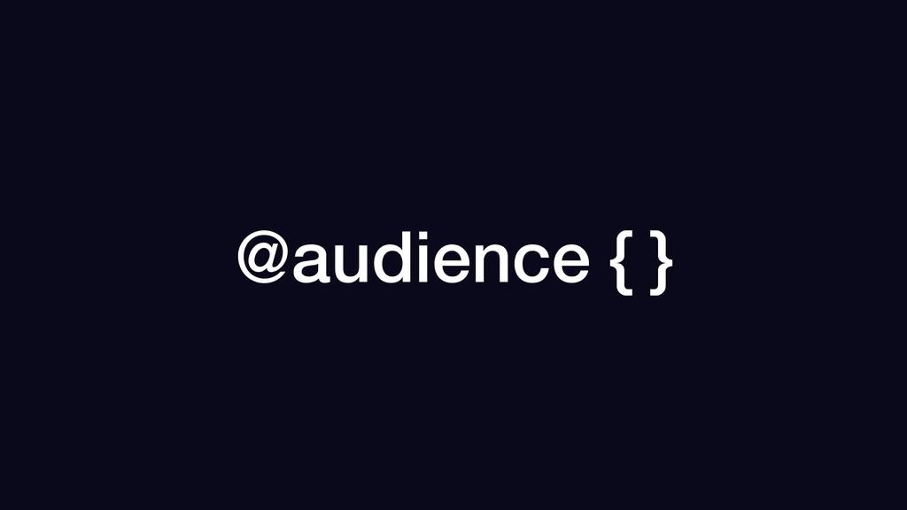 @audience { }