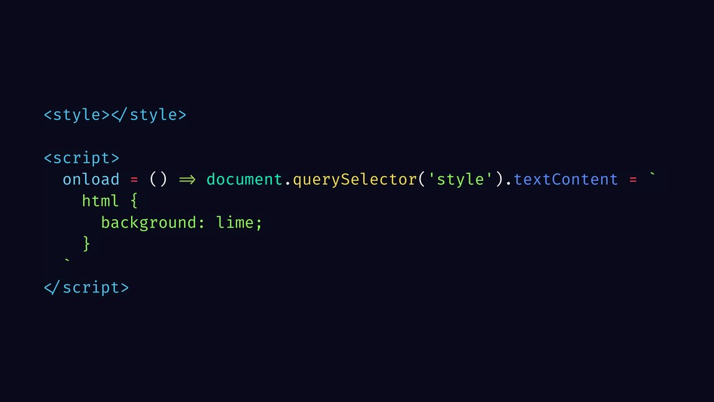 <style> </style> <script> onload = () => docume...