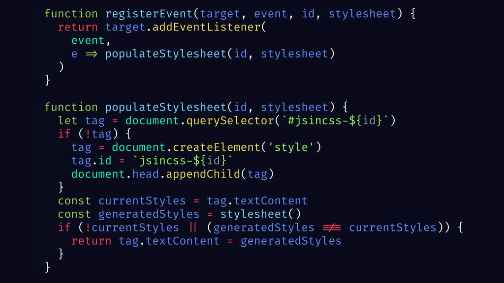 function registerEvent(target, event, id, style...