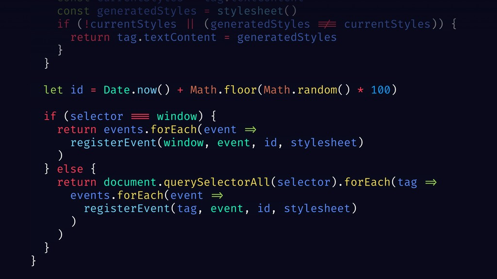 const currentStyles = tag.textContent const gen...