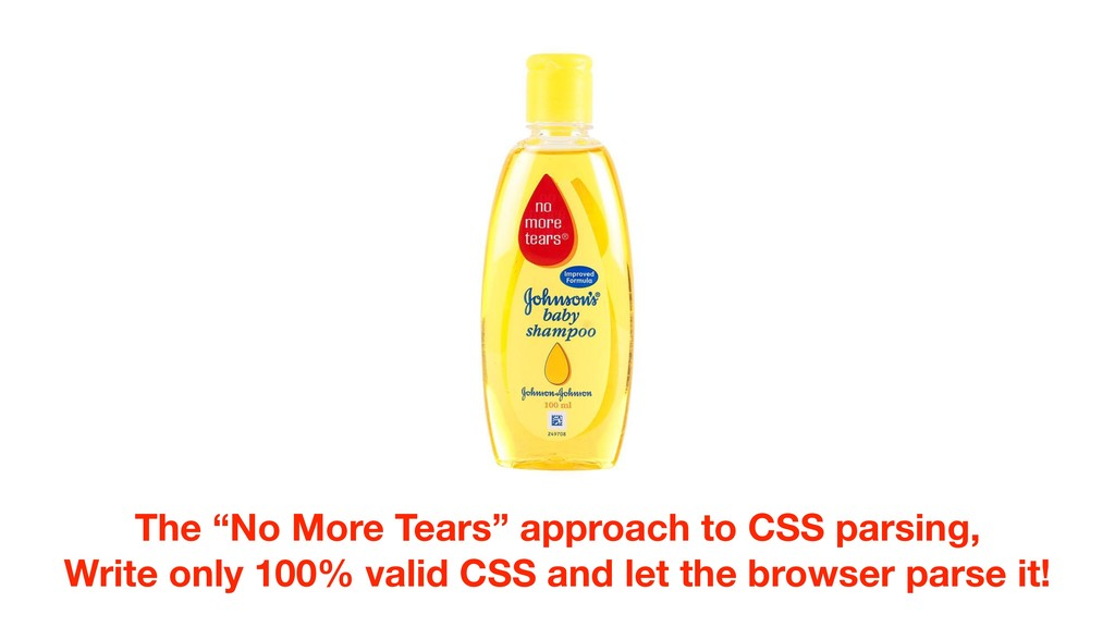 """The """"No More Tears"""" approach to CSS parsing, Wr..."""