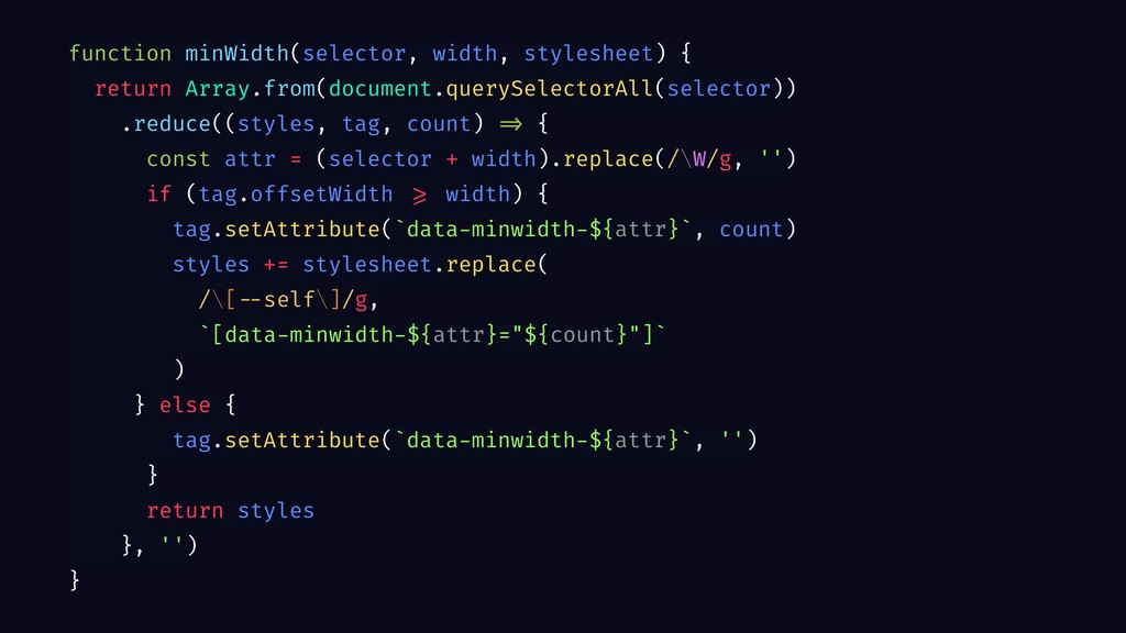 function minWidth(selector, width, stylesheet) ...