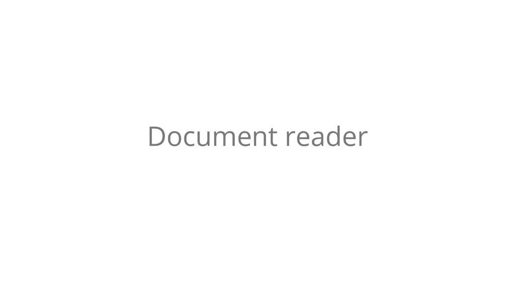 Document reader