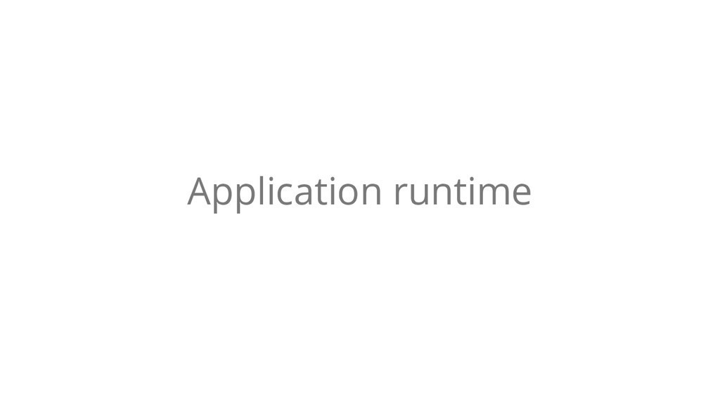 Application runtime