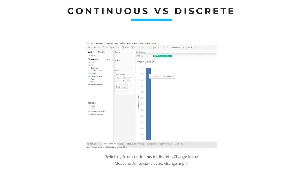 Switching from continuous to discrete. Change i...