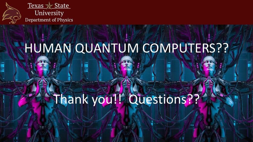 Texas State University Department of Physics HU...