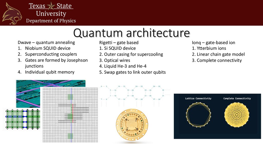 Texas State University Department of Physics Qu...