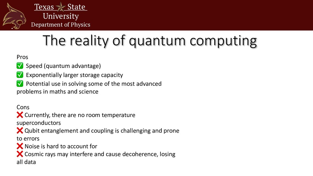 Texas State University Department of Physics Th...