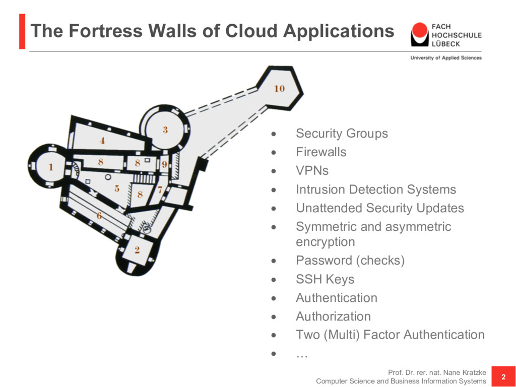 The Fortress Walls of Cloud Applications Prof. ...