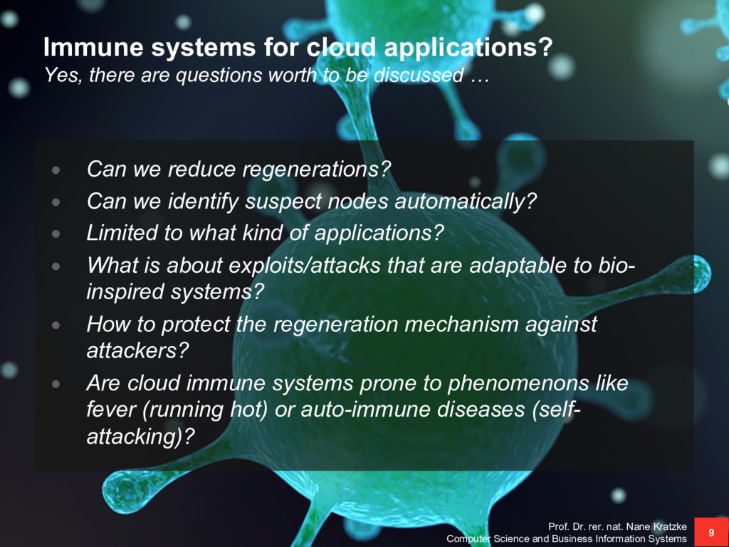 Immune systems for cloud applications? Yes, the...
