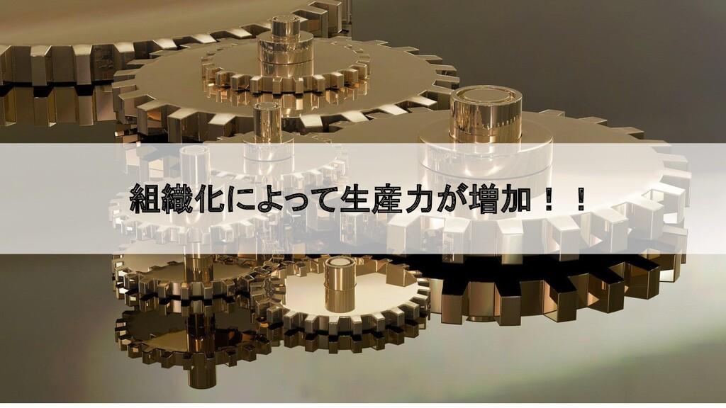 2020/09/19 組織化によって生産力が増加!!