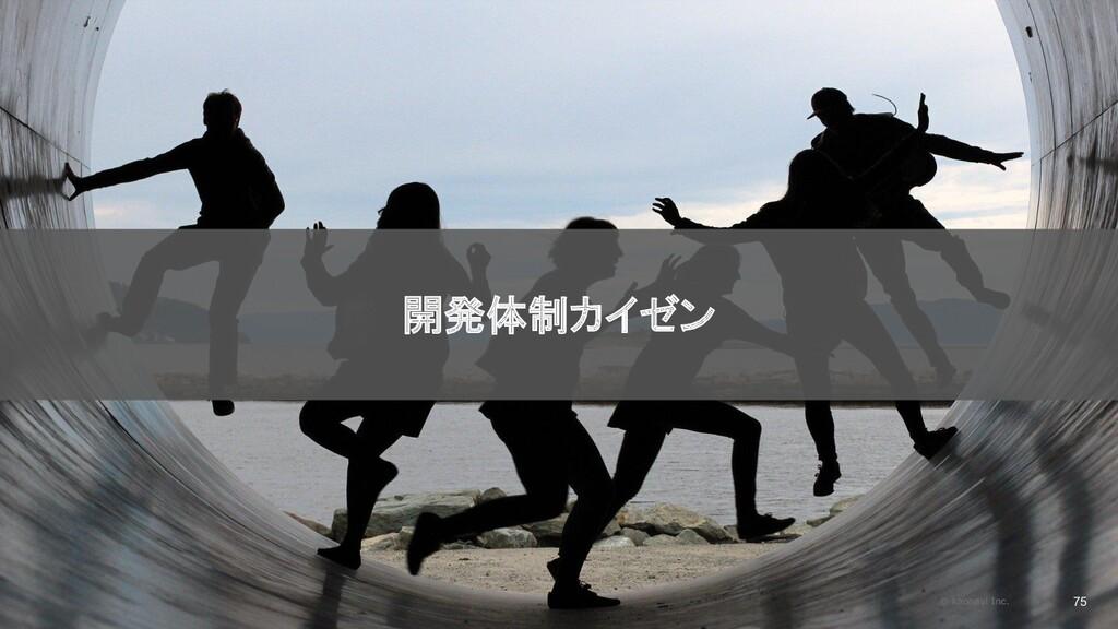 2020/09/19 75 開発体制カイゼン © kaonavi Inc.