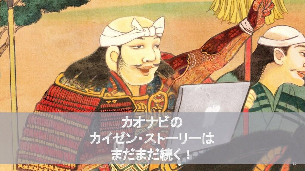 2020/09/19 © kaonavi Inc. 89 カオナビの カイゼン・ストーリーは ...