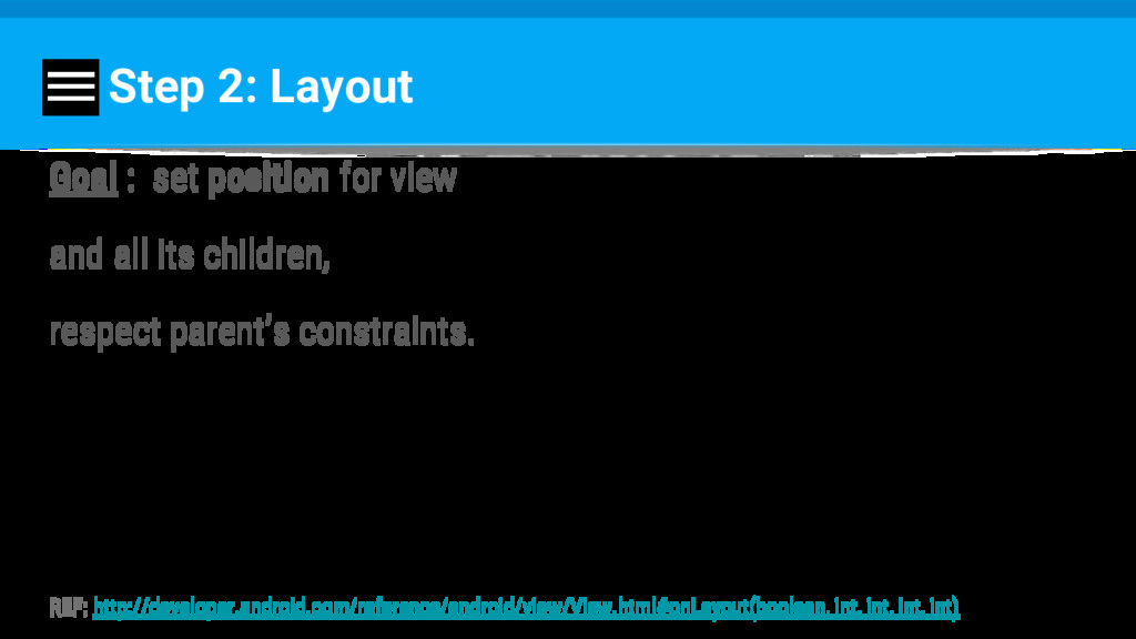 Step 2: Layout Goal : set position for view and...