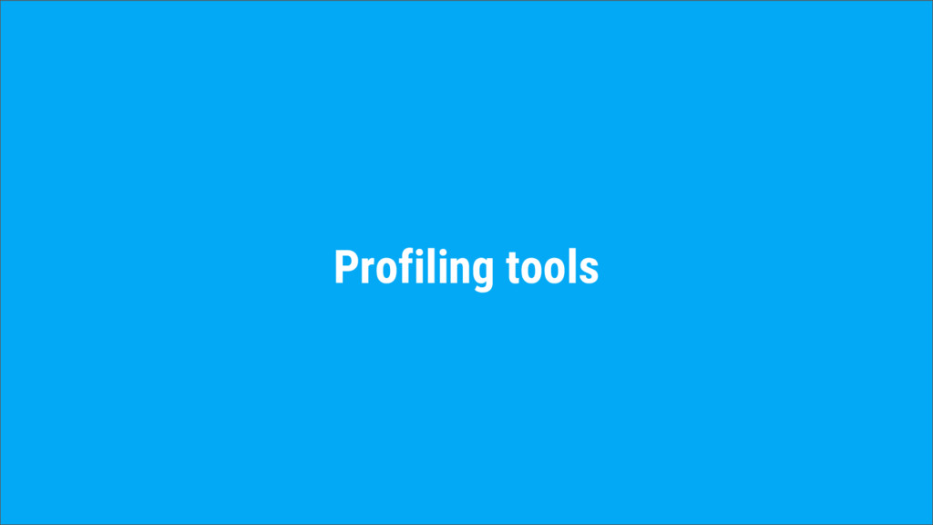 Profiling tools