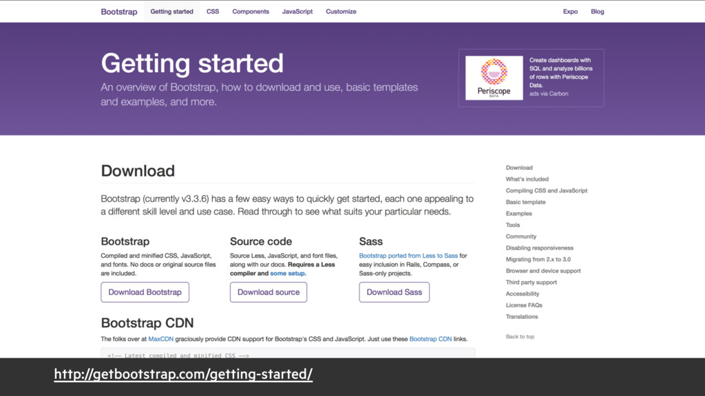 http://getbootstrap.com/getting-started/