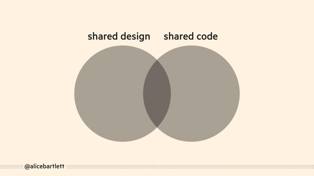 @alicebartlett shared design shared code