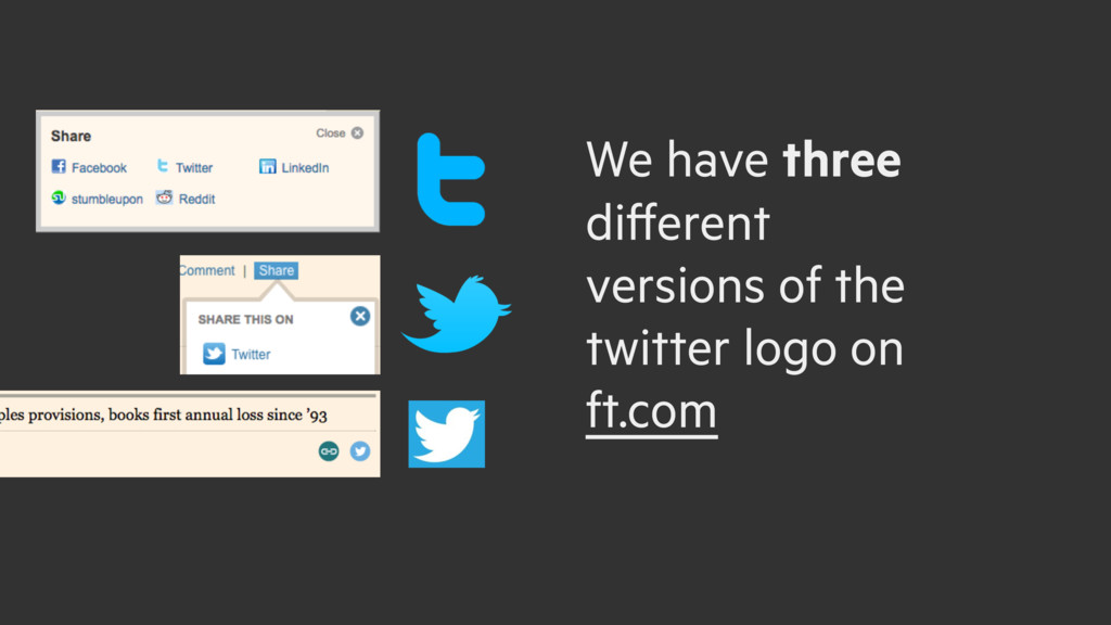 We have three different versions of the twitter...