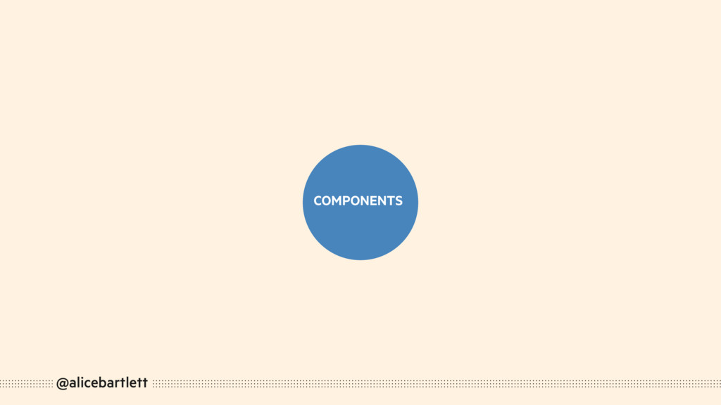@alicebartlett COMPONENTS COMPONENTS