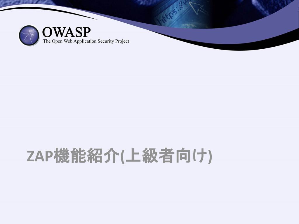ZAP機能紹介(上級者向け)
