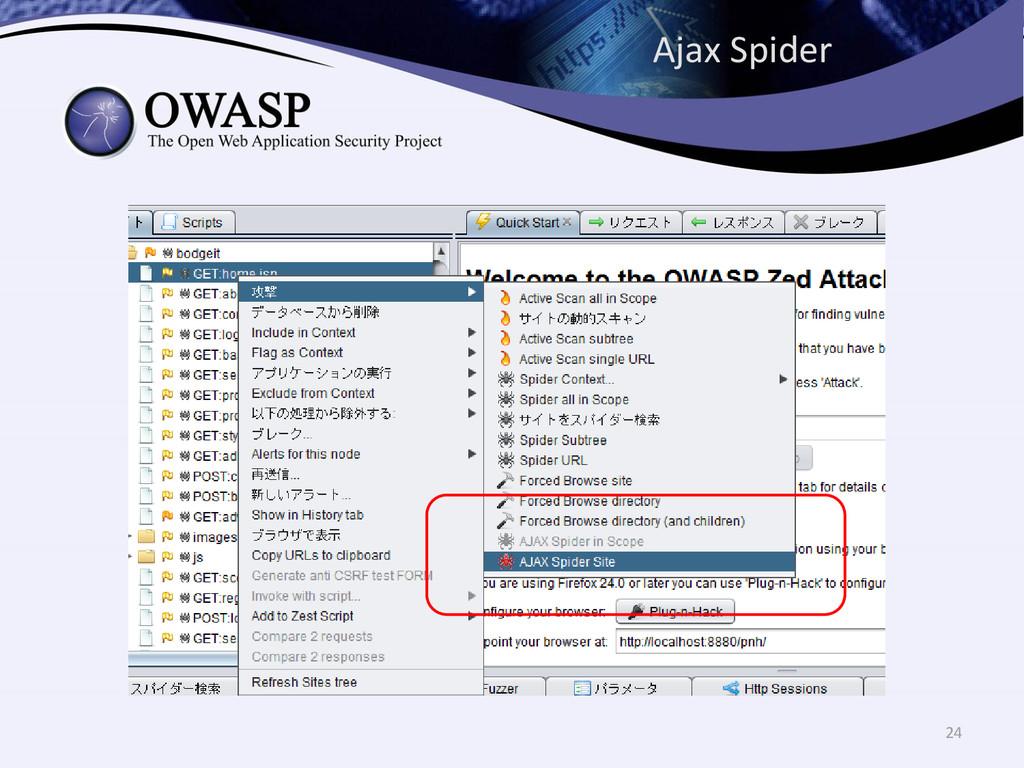 Ajax Spider 24