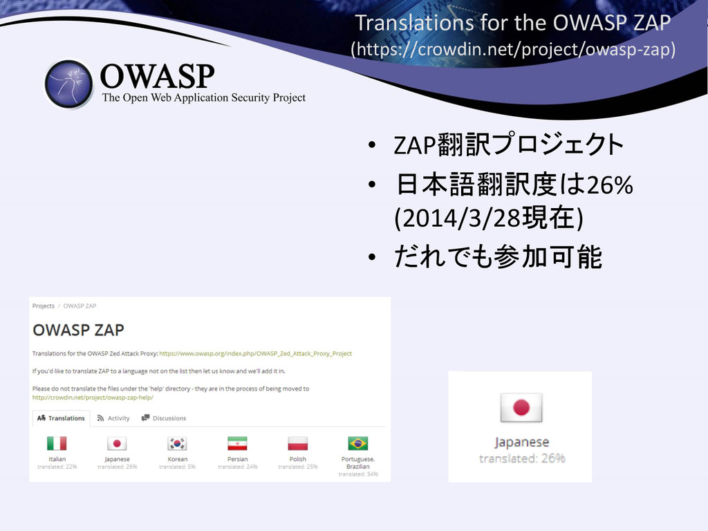 Translations for the OWASP ZAP (https://crowdin...