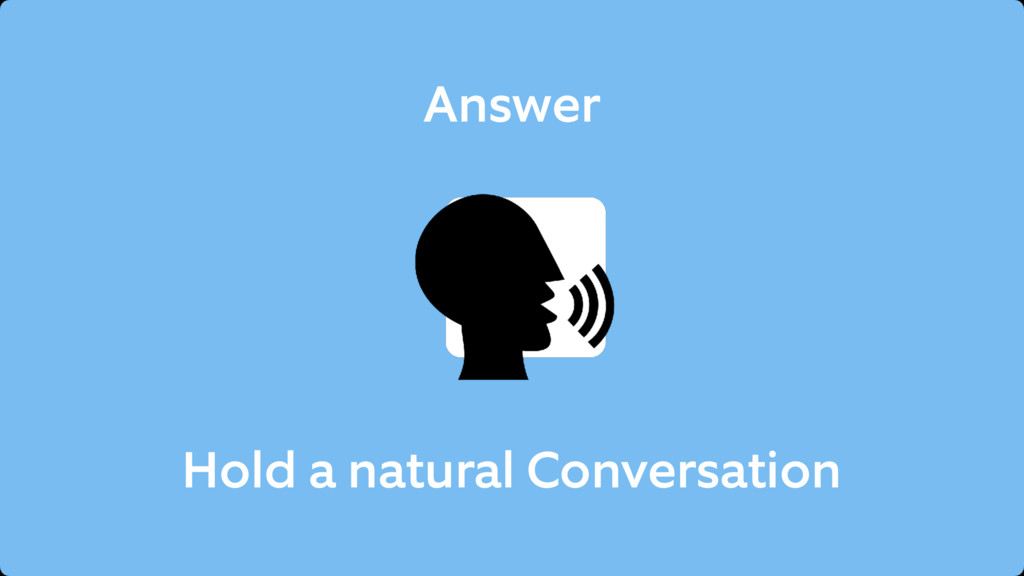 Answer Hold a natural Conversation