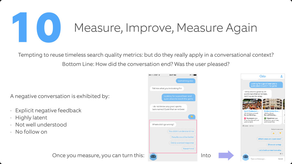 Measure, Improve, Measure Again 10 Bottom Line:...